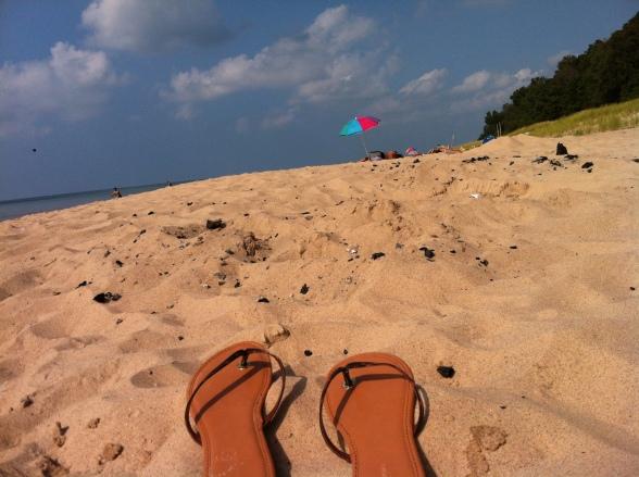 Savoring the beach after our 13.Wine half marathon