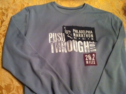 This race shirt is a cherished possession because of what it took to obtain it.